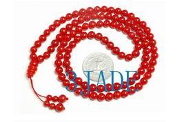 "25"" Tibetan 108 Red Coral Meditation Prayer Beads Mala   image 1"