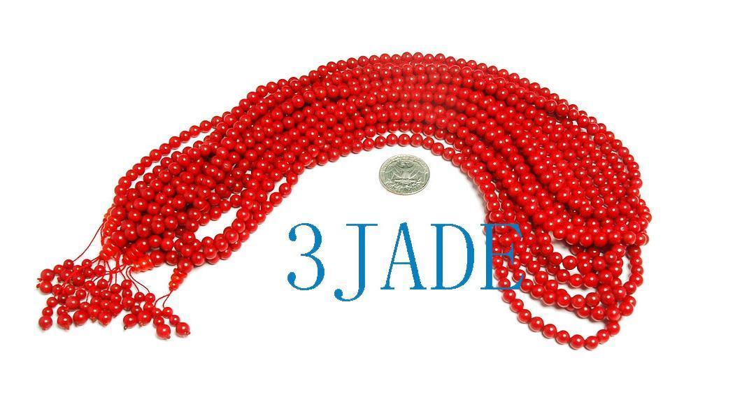 "25"" Tibetan 108 Red Coral Meditation Prayer Beads Mala   image 2"