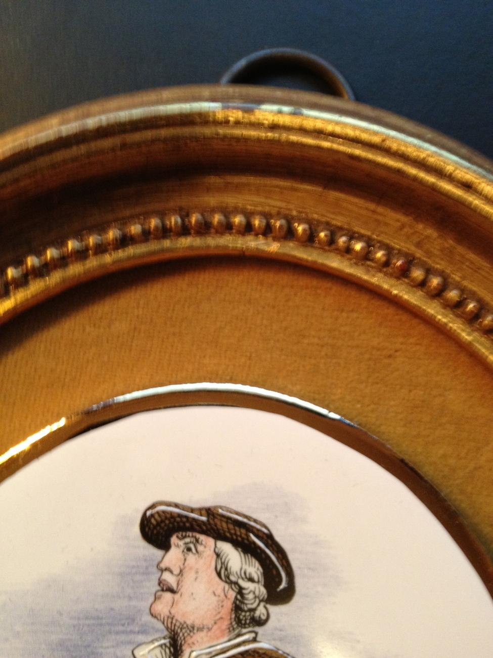 Vintage Sungott Genuine Hand Enameled Oval Porcelain Plaque