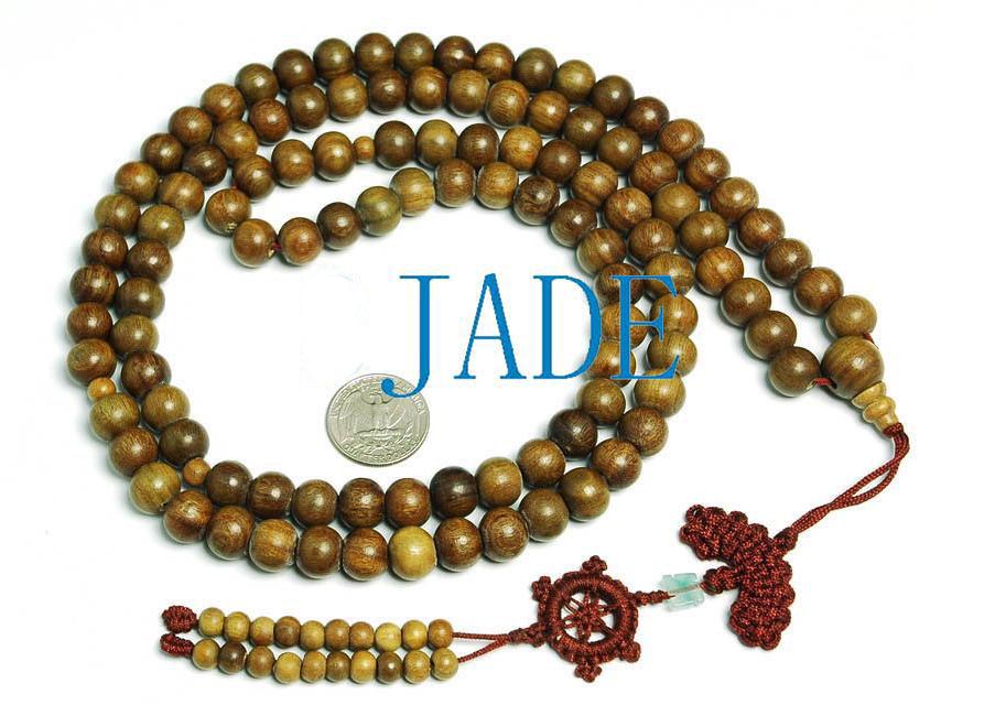 "44"" Tibetan 108 Natural Sandalwood Prayer Beads Mala image 2"