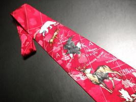 WWF World WildLife Fund Neck Tie North American Wildlife Bright Reds Design 188 image 3
