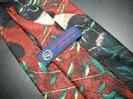 Endangered Species Neck Tie Repeating Pandas on Reds and Greens image 4