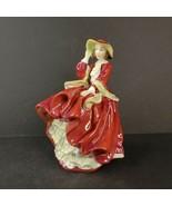 Vintage Royal Doulton Figurine Top O The Hill Lady HN1834 England Porcel... - $49.99