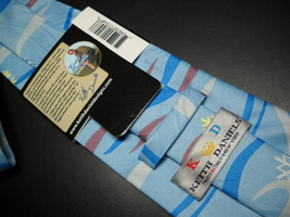 Keith Daniels Neck Tie Blue Christmas Snowman Unused Still in Paper  Sleeve image 4