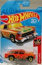 2018 Hot Wheels #349 HW Flames 6/10 CLASSIC '55 NOMAD Orange w/Yellow 5 ... - $5.45