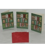 Hallmark XZH 633 4 Colorful Make It Merry Letters Christmas Card Package 3 - $16.99