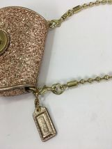 Coach Bag Evening Poppy Gold Sequin Crossbody Leather Chain 43292 Gold B2E image 7