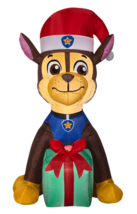 4' Nickelodeon Paw Patrol Christmas LED Chase with Present Inflatable Yard Decor image 2