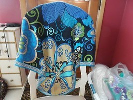 Vera Bradley Mod Floral Blue silk scarf NWOT - $23.50