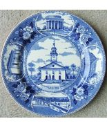 Vintage OLD ENGLISH STAFFORDSHIRE WARE ST. FRANCIS CATHEDRAL Plate BLUE ... - $79.99