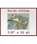 Gold Satin Single Face Polyester Ribbon 3/8 x 10yd - $2.48