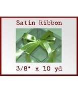 Pistachio Green Satin Single Face Polyester Rib... - $2.48