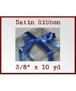 Royal Blue Satin Single Face Polyester Ribbon 3... - $2.48