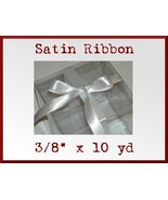 White Satin Single Face Polyester Ribbon 3/8 x ... - $2.48