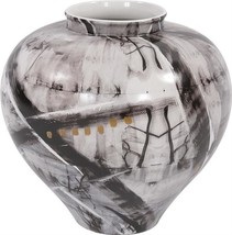 GRAFFITI Vase HOWARD ELLIOTT Round Ceramic Hand-Painted - $299.00
