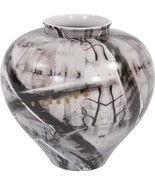 GRAFFITI Vase HOWARD ELLIOTT Round Ceramic Hand-Painted - $299.00