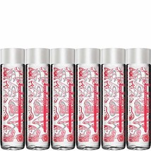 VOSS Strawberry Ginger Flavored Sparkling Water, 12.7oz Glass Bottle Pack of 6,