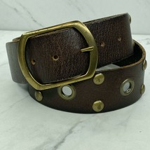 Linea Pelle Studded Leather Brown Belt Size Small Womens - $22.47