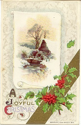 A Joyful Christmas John Winsch Vintage Post Card
