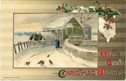Best Christmas Wishes John Winsch vintage 1910 Post Card image 1
