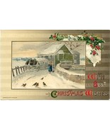 Best Christmas Wishes John Winsch vintage 1910 Post Card - $6.00