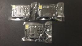 Genuine Epson 220 Ink Cartridges Yellow Black & Cyan Sealed T220120 2023 - $17.81