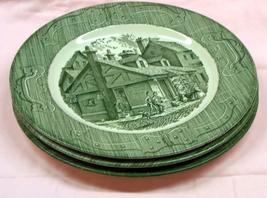 Set of 3 Royal China 'Old Curiosity Shop' Dinner Plates - $14.95