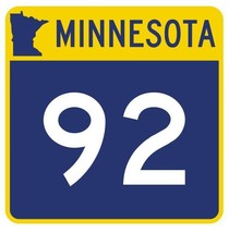 Minnesota State Highway 92 Sticker Decal R4932 Highway Route Sign - $1.45+