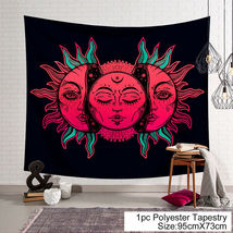 Art Tapestry Wall Hanging Mandala Pattern Tapestry: indian red face sun - $10.69