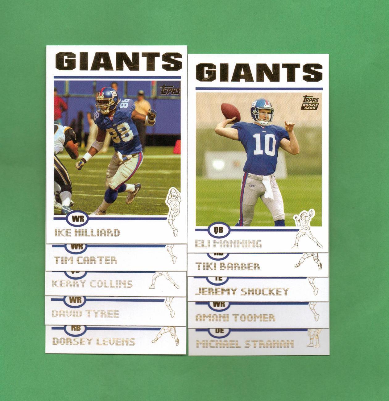 2004 Topps New York Giants Football Set