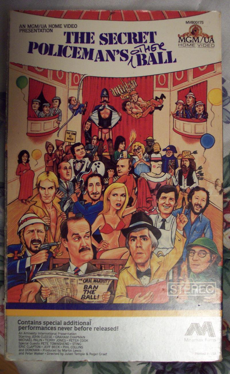 The Secret Policeman's Other Ball (VHS tape, NOT an ex renta