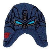 The Transformers Optimus Prime Image Knitted Laplander Beanie Hat, NEW U... - $13.54