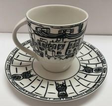 "Mikasa Ultima Parisian Scenes 3.5"" Tea Cappuccino Cup And Saucer Set - $14.84"