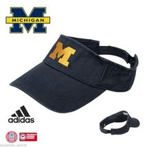 MICHIGAN WOLVERINES free shipping FOOTBALL BASKETBALL VISOR HAT CAP ADID... - $14.93
