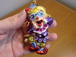 Christopher Radko Glass Laughing Stock Jester with Box image 1