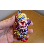 Christopher Radko Glass Laughing Stock Jester with Box - $44.00