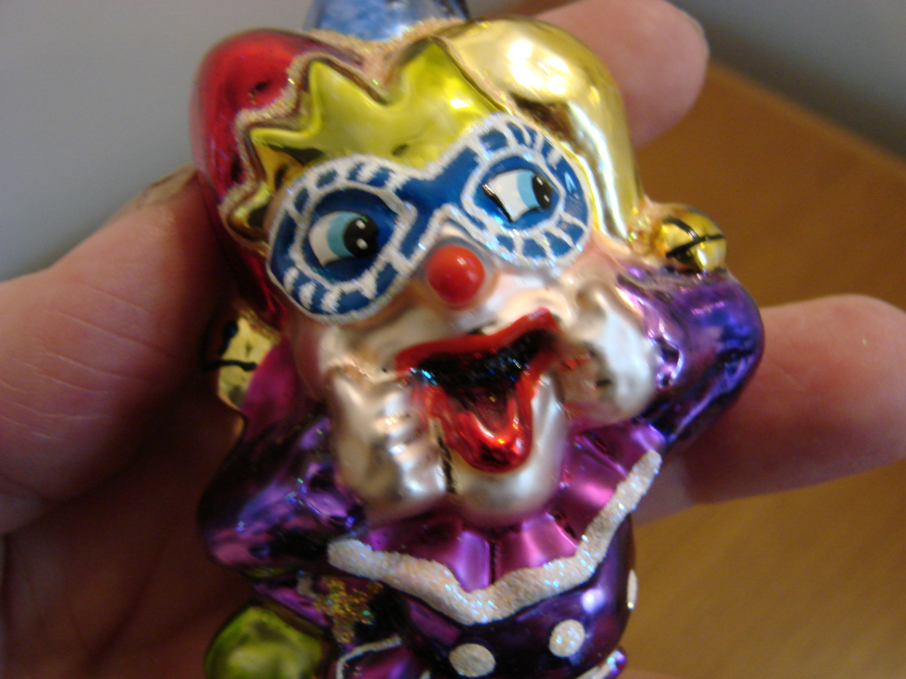 Christopher Radko Glass Laughing Stock Jester with Box image 2