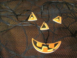 LONGABERGER JACK O' LANTERN TIE ON 4 PIECE SET NEW NO BOX - $8.00