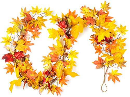 "Primary image for CraftMore Lexington Fall Garland 72"" Mixed Autumn Leaves"