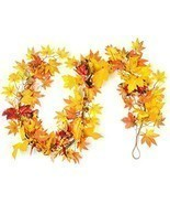"CraftMore Lexington Fall Garland 72"" Mixed Autumn Leaves - $108.19 CAD"