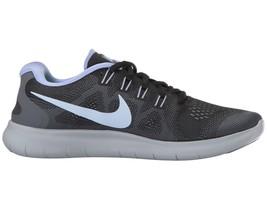 Nike Free RN 2017 Black Hydrogen Blue Gray Womens Size 6 Sneakers 880840 005 - $74.95