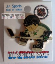 MINNESOTA NORTH STARS HOCKEY JERSEY HAT PIN OLD STOCK NHL LICENSED FREE ... - $11.19