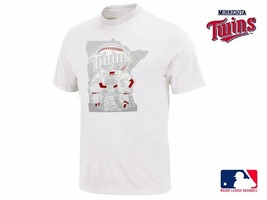 Minnesota Twins Baseball Old School Logo Mens Shirt L - $21.05