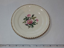 "The Harker Pottery Co. Made in USA 22 KT Gold Trim 1 Bread Plate 6 1/4"" ~ - $13.60"