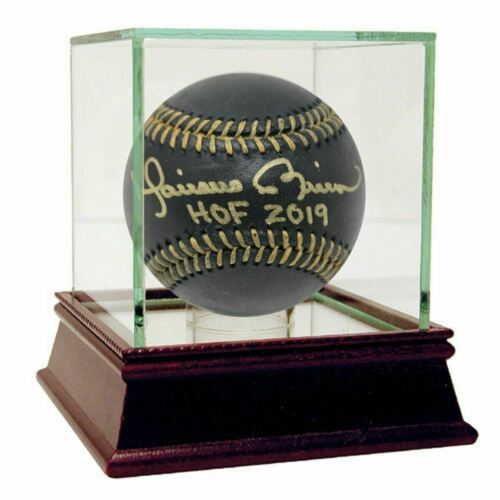 "Primary image for MARIANO RIVERA Signed ""HOF 2019"" Black Leather Baseball Insc Steiner."