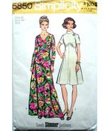 Vintage 1973 Simplicity Pattern 5850 ~ Size 14 Misses Dress in Two Lengths - $3.95