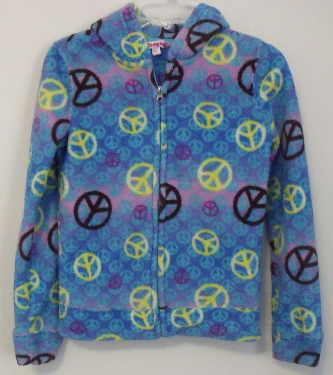 Girls energie mult color fleece jacket front