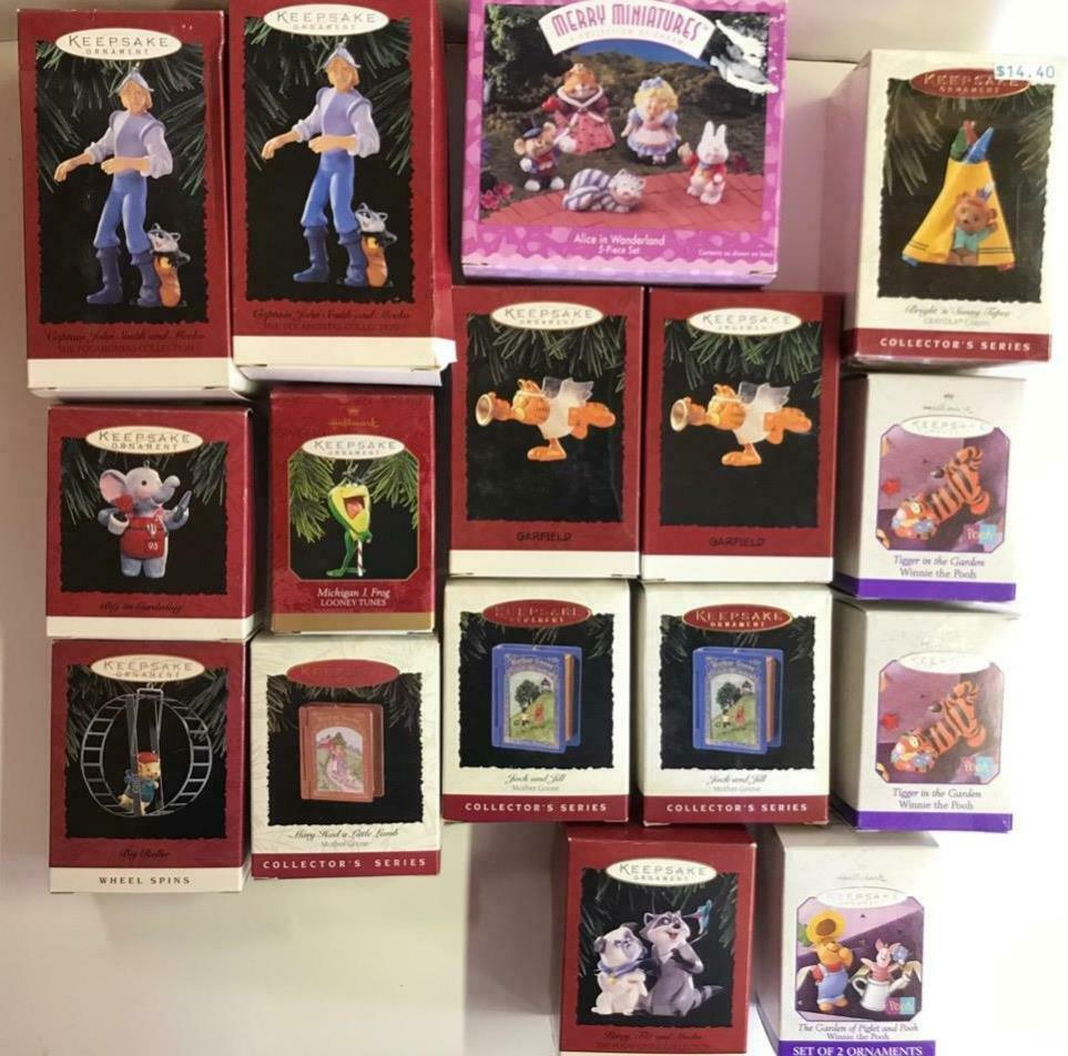 Lot 16 Asst  Disney kids cartoon Hallmark Christmas tree Ornaments collectible image 1