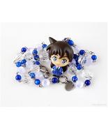 Ran Mouri Anime Figure Necklace, Blue, White, Stainless Steel, Otaku Gifts - $36.00
