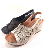 Bonavi 324-07-80 Leather Wedge Lightweight Open Toe Sandals Choose Sz/Color - $125.10